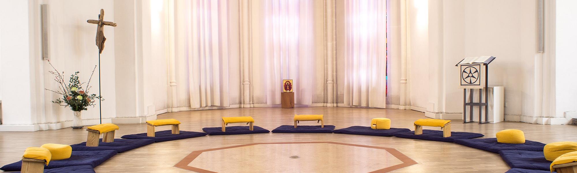 Innenansicht der Kirche der Stille
